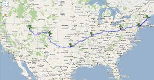 United States Road Trip Map by Road Trip Cross Country Usa United States Travel Twitter Family