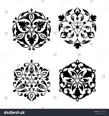 set arabic ornament floral pattern stock vector 497153809