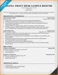 Hotel Front Desk Resume Sample by 10 Front Desk For Medical Office Resume Invoice Template Download