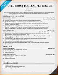Hotel Front Desk Resume Sample by 10 Front Desk For Medical Office Resume Invoice Template Download