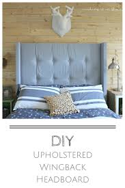 How To Make Your Own Duvet Diy Upholstered Wingback Headboard