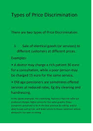 types and prices types of price discrimination