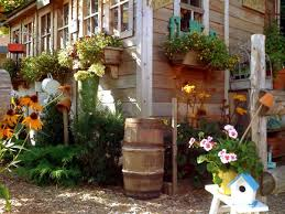 Rustic Garden Decor Ideas Ideas For Decorating Garden Sheds Orchid Flowers Backyard Shed