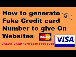 how to create credit card number for websites learn in