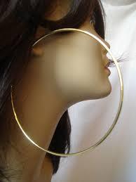 big gold hoop earrings large hoop earrings gold tone 4 25 inch simple thin hoops ebay