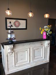 Salon Reception Desk Tuscan Bar Retail Counter Reception Desk Kitchen
