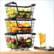fruit basket stand countertop fruit storage useful uh 3 tier decorative wire fruit