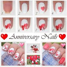anniversary heart design nail art gallery step by step tutorial