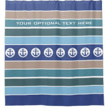 Nautical Anchor Shower Curtain Nautical Anchor Shower Curtains Zazzle