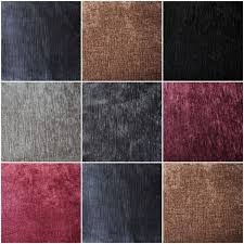 Crushed Velvet Fabric For Curtains Soft Plain Heavy Weight Cotton Crushed Velvet Upholstery Fabric