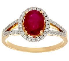 diamond rings precious gemstone u0026 diamond ring 14k gold 0 90 ct page 1 u2014 qvc com