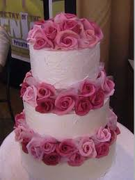 wedding cakes pictures fresh pink roses wedding cakes