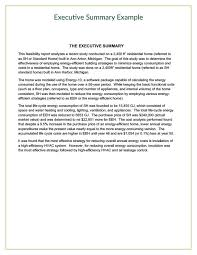 executive summary of a report example executive summary report