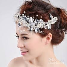 pearl headpiece wedding party bridal jewelry pearl flower