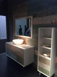 reclaimed wood floating bathroom vanity side toilet sitting