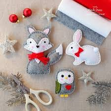 stuffed felt ornament patterns chrismas 2017