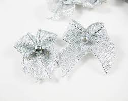 small silver bow etsy