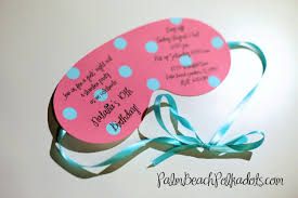 10 spa party sleepover birthday party invitations eye mask and