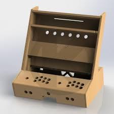 arcade en bois kit bois borne arcade bartop 2 joueurs kit bartop rétro gaming