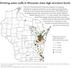 Counties In Wisconsin Map by Wisconsin Strontium Levels Among Highest In U S Drinking Water