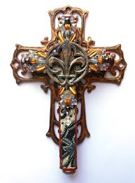 wall crosses for sale cross sale ooak decoupage painted found object mixed media