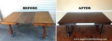how to refinish a wood table willpower furniture how to refinish a table oval dining amazing