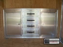 v nose enclosed trailer cabinets cabinet options archives american trailer pros cargo trailers