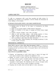 Sample Job Objectives For Resumes by Resume Mosota