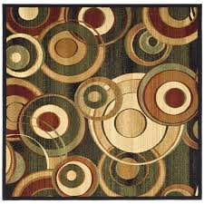 Modern Square Rugs by Shop Safavieh Lyndhurst Modern Circles Black Multi Square Indoor
