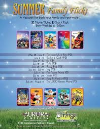 weekly summer movie guide free and low cost movies every day