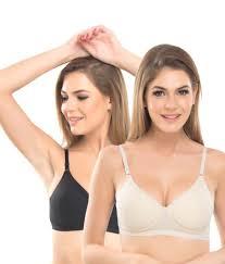 lyka buy lady lyka multi color cotton padded bra pack of 2 online at