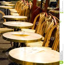 Cafe Style Dining Chairs Night Paris France Cafe Tables Chairs Stock Image Image 14572823