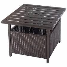rattan coffee table outdoor brown rattan wicker steel side table outdoor furniture deck garden