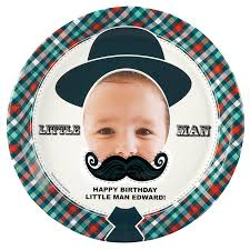 personalized dinner plate mustache personalized dinner plates birthdayexpress