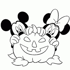 mickey mouse mickey inside a halloween pumpkin coloring page