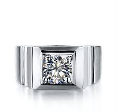 wedding ring test top quality solid 14karat white gold ring 1ct moissanite