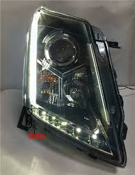 cadillac srx headlights lens headlights with bi xenon projector and led drl for cadillac