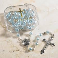 baptism rosary blue baptism rosary abba s catholic bookstores