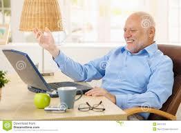 Old Guy Meme - laughing old man using laptop stock image image of computer