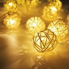 Led Wire String Lights by Rattan Ball Led Christmas String Lights Torchstar
