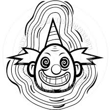 creepy clipart scary clown clip art black and white u2013 clipart free download