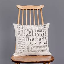 Customized Cushion Covers Personalised Birthday Cushion Cover By Vintage Designs Reborn