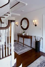 Design Ideas For Half Circle Rugs Half Moon Console Table Staircase Traditional With Area Rugs