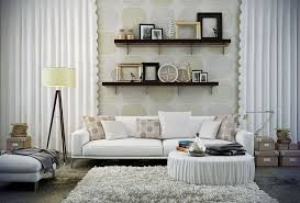 Creative Curtain Hanging Ideas Living Room Creative Corner Open Wall Shelving Ideas With White