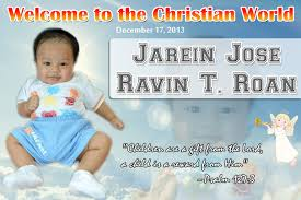 layout for tarpaulin baptismal tarpaulins cebu giveaways personalized items party souvenirs