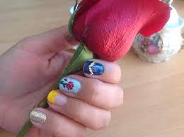 uñas inspiradas en la bella y la bestia nails art pinterest