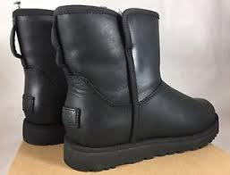 s ugg black leather ugg leather slim collection waterproof boots 1014439