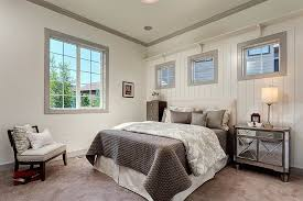White Ceiling Beams Decorative by White Beadboard Wall Family Room Rustic With White Ceiling Beams
