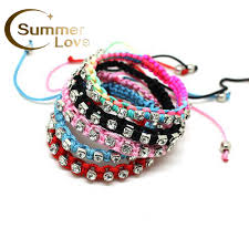 bracelet free friendship images Handmade braided rope stretchy charm crystal beads bracelets for jpg