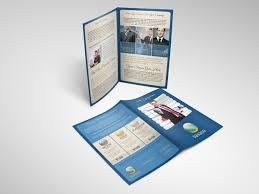 two fold brochure template psd blue bifold brochure psd template pack vandelay design